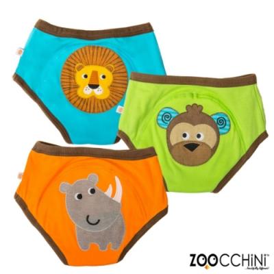 ZOOCCHiNi美國有機棉學習褲3入-可愛動物 男孩款