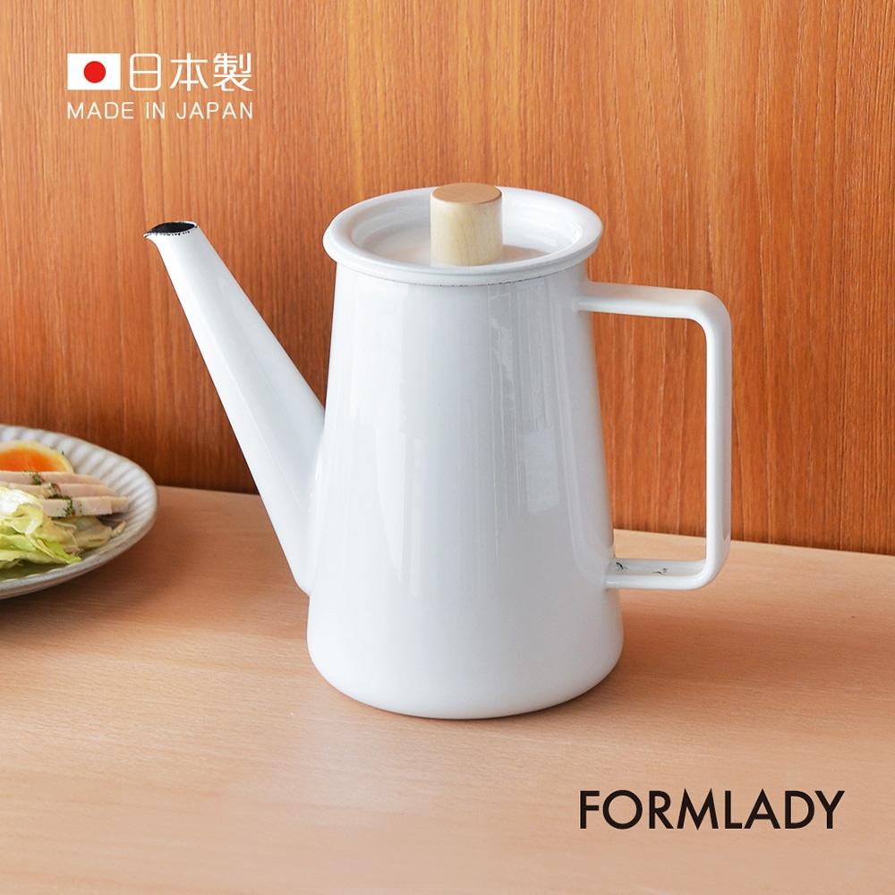 日本FORMLADY 小泉誠 kaico日製琺瑯咖啡壺-1.1L (IH爐可使用)