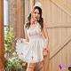 Sexy Cynthia 角色扮演 純真俏護士綁帶式蕾絲美背圍裙五件式角色服-白F product thumbnail 1