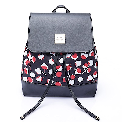 VOVAROVA空氣包-翻蓋束口後背包-Cherrypicks-Black&Red
