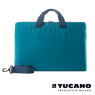 TUCANO MINILUX 極簡輕便尼龍手提內袋 15.6吋(可側背)-藍