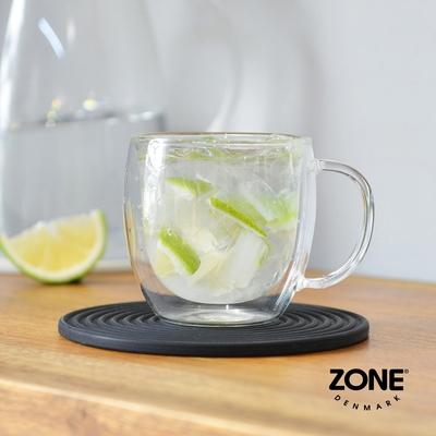丹麥ZONE Rocks圓形圈紋矽膠杯墊(15cm)