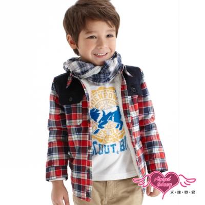 【天使霓裳-童裝】SCOUT BOY 野狼燙布兒童長袖T恤上衣(白)
