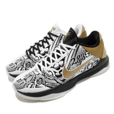 Nike 籃球鞋 Kobe V Protro 1 2 男鞋 Big Stage 曼巴精神 球鞋 穿搭 白 金 CT8014100