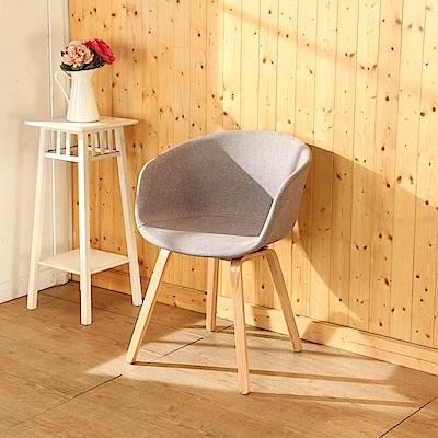 BuyJM北歐亞麻曲木餐椅/休閒椅/寬48x44x81公分-DIY