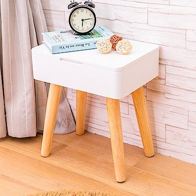 AS-卡蜜拉雙色床頭櫃-37x27x42cm(DIY)
