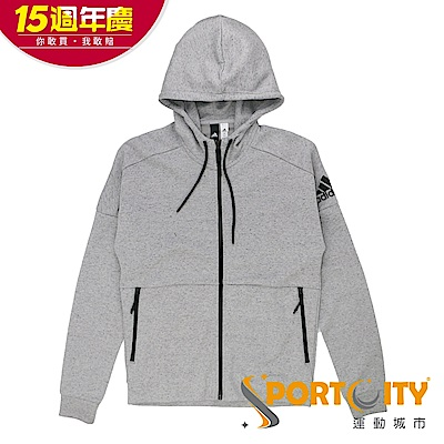 [時時樂限定]ADIDAS 男 連帽外套 灰-BQ1648