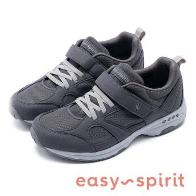 Easy Spirit-seTREBLE2 輕鬆穿脫 魔鬼氈彈力休閒鞋-灰色