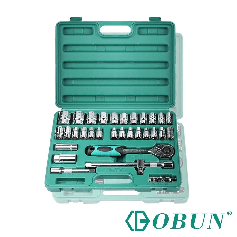 OBUN 修繕/汽機車/棘輪板手/火星塞套筒五金工具32件套