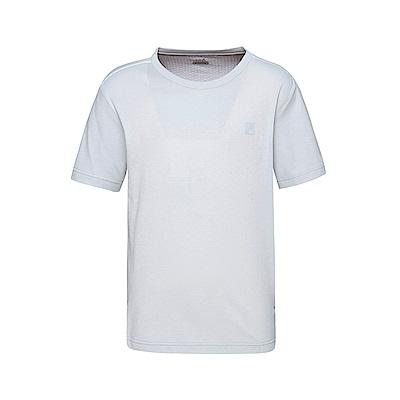 FILA 男款短袖圓領T恤-淺灰 1TET-1302-GY