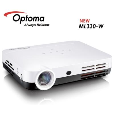 OPTOMA 奧圖碼 ML330 高清微型智慧投影機 白色 升級 600流明 安卓系統 露營用 公貨