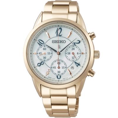 SEIKO 精工 LUKIA 柔美時尚太陽能腕錶(V175-0EX0U)SSC794J1