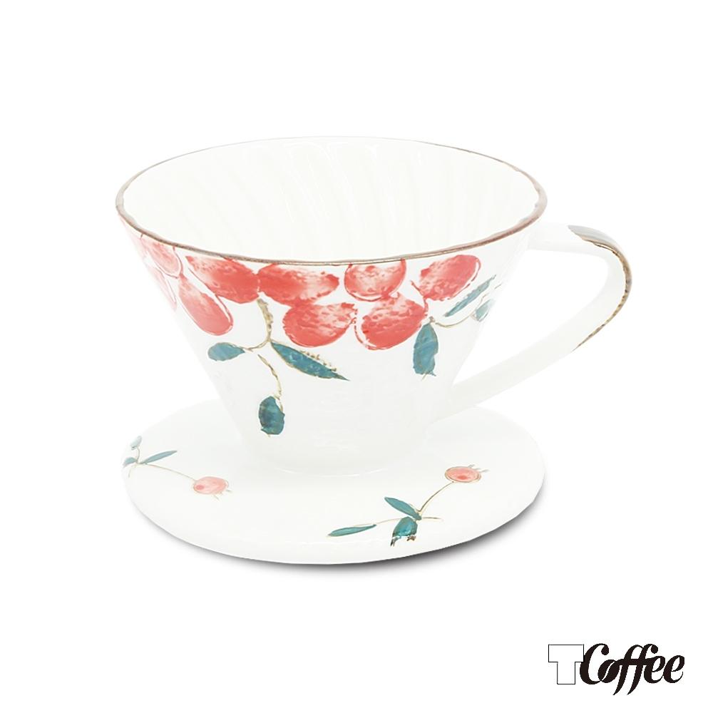 TCoffee MILA-日式手繪咖啡濾杯101紅果花