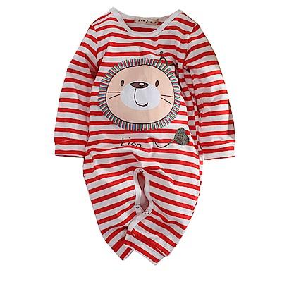 獅子條紋長袖連身衣 k60750 魔法Baby