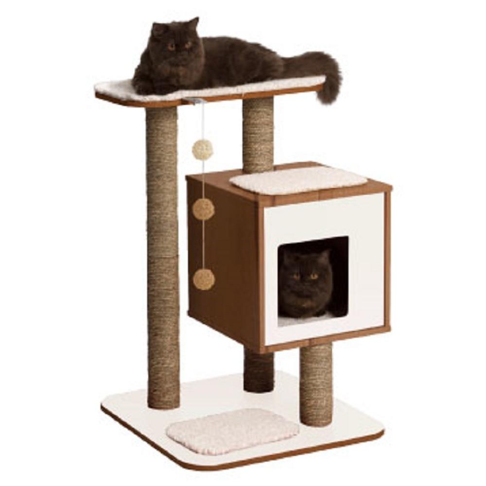 赫根Hagen Vesper貓用實木家具《單層公寓》