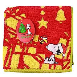 SNOOPY史努比聖誕派對 小方巾(B款-紅色)