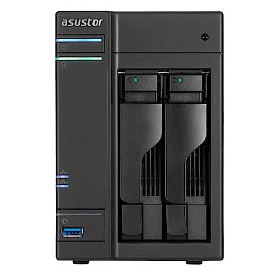 [促銷]ASUSTOR AS6202T 2Bay NAS網路儲存+WD20EFRX硬碟*2