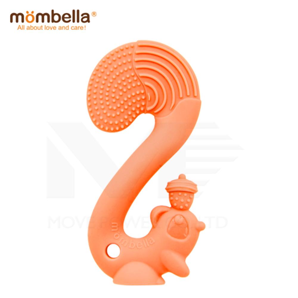 【任選】英國《mombella 》萌萌小松鼠固齒器(橘色)