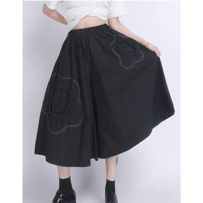 設計所在Style-高腰寬鬆薄顯瘦小眾設計感七分裙褲