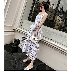 IMStyle 顯瘦性感V領吊帶蛋糕裙(三色)