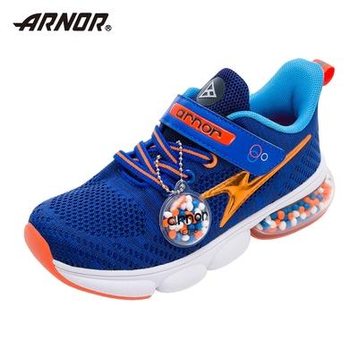 【ARNOR】阿諾-膠囊氣墊慢跑鞋/中大童鞋 加倍緩震 運動 海洋藍(ARKR18106)