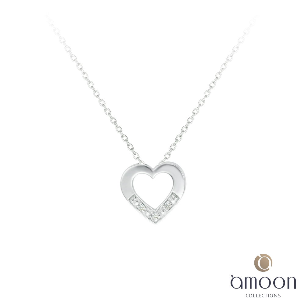 amoon  浪漫艾菲爾系列 真情 K金鑽石項鍊