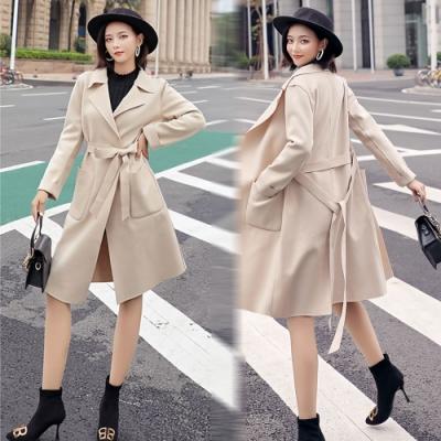 【韓國K.W.】美式作風完美爆款毛呢大衣-1色