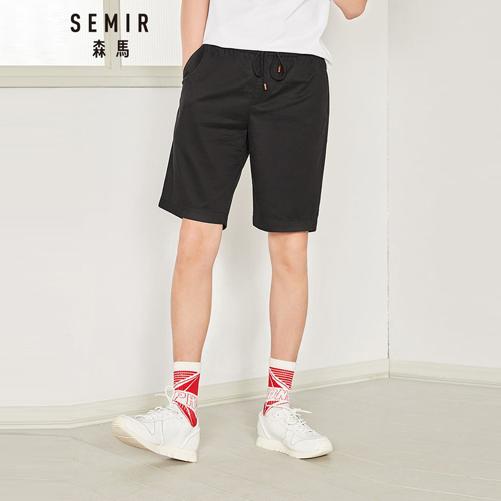 SEMIR森馬-品牌熱銷舒適天絲休閒短褲-男