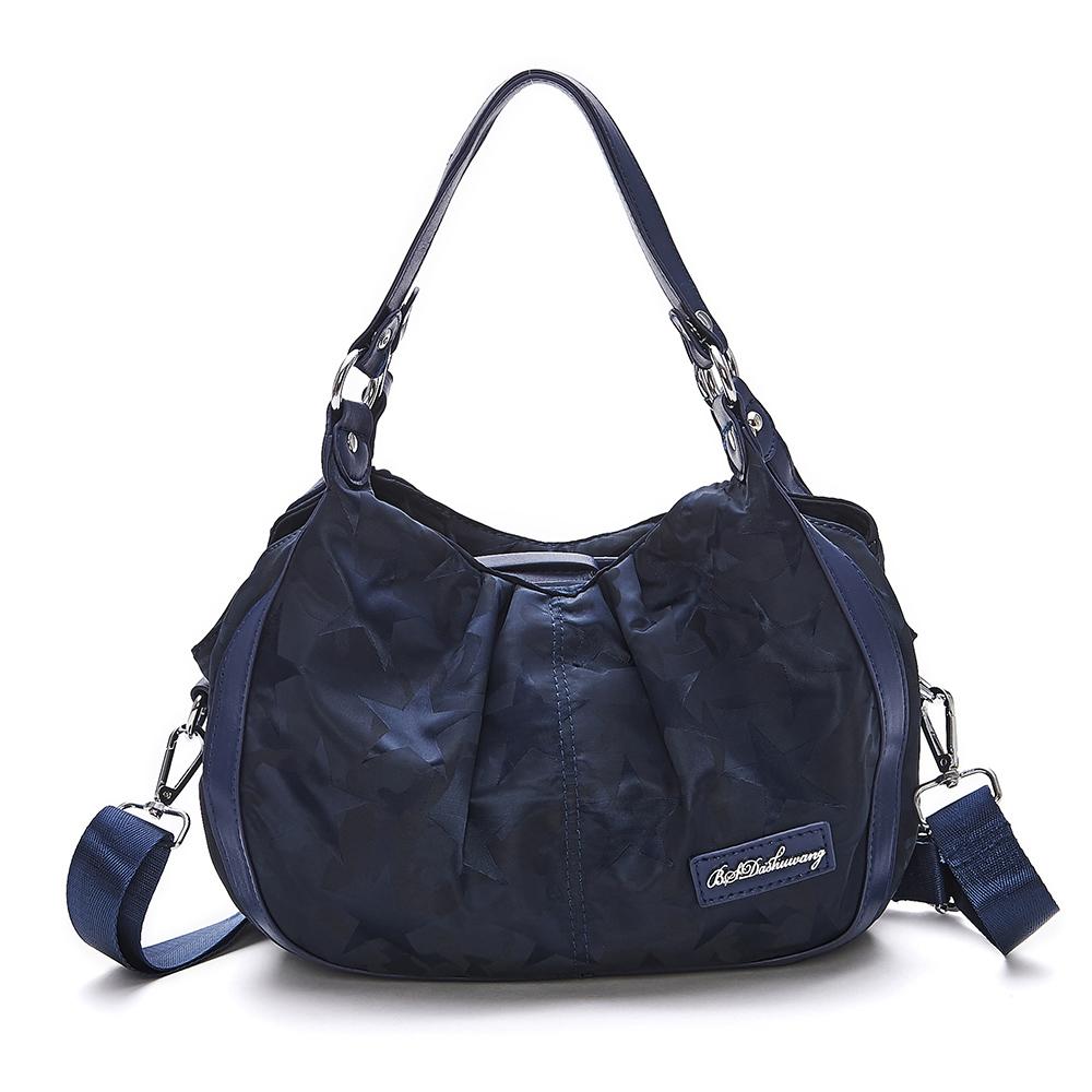 B.S.D.S冰山袋鼠-香巧班尼x托特購物造型手提側背兩用包-炫彩藍