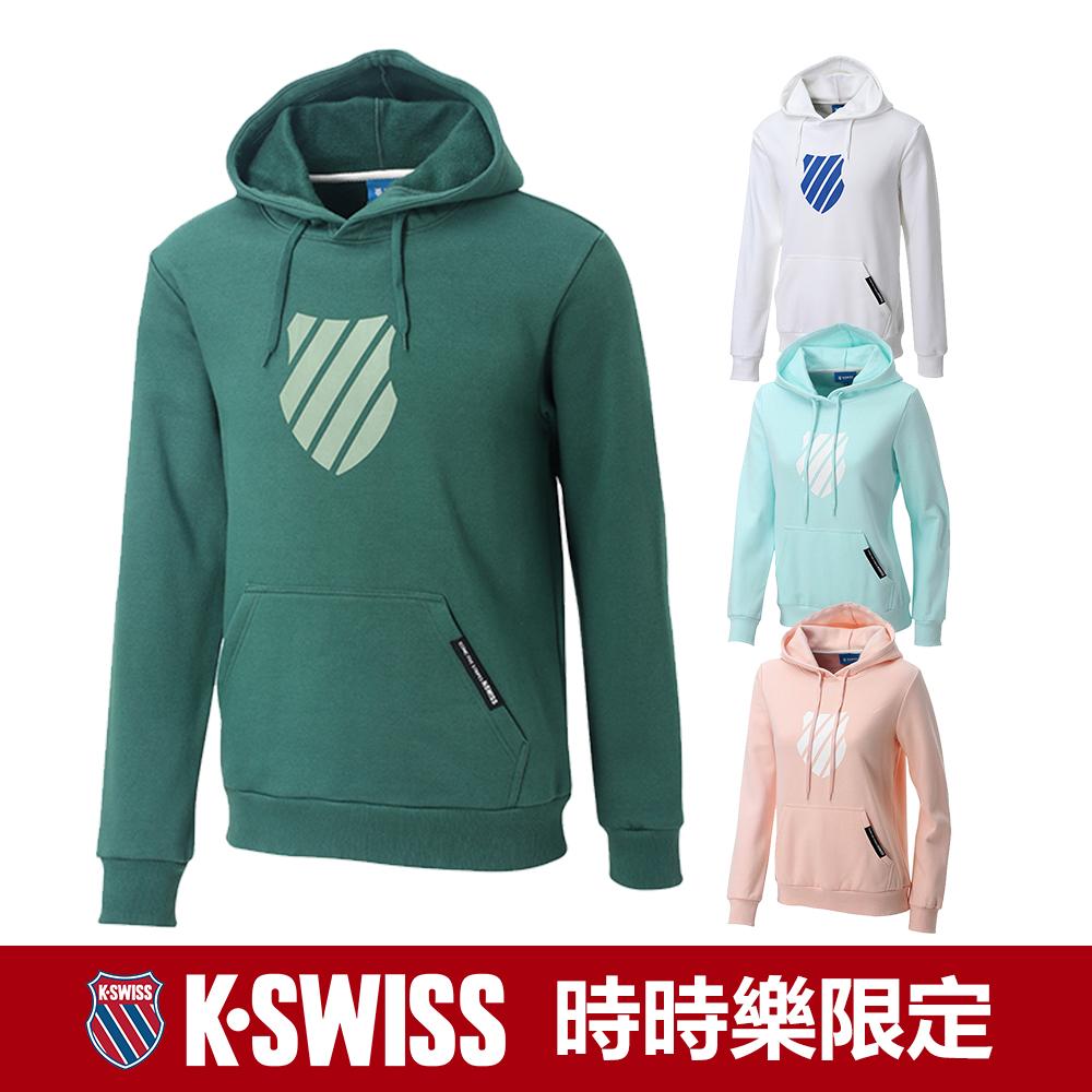 [時時樂限定]K-SWISS Shield Logo 刷毛連帽上衣-男女共四款