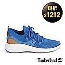 Timberland 男款FlyRoam Go亮藍色皮革飛型鞋