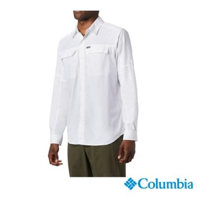 Columbia 哥倫比亞 男款 - Omni-Shade 防曬50快排長袖襯衫-白色 UAE06510WT