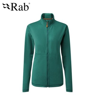 【英國 RAB】Geon Jacket 中層透氣刷毛外套 女款 亞特蘭提斯 #QFE96