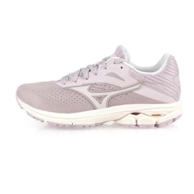 MIZUNO 女 慢跑鞋-WIDE WAVE RIDER 23 藕紫灰
