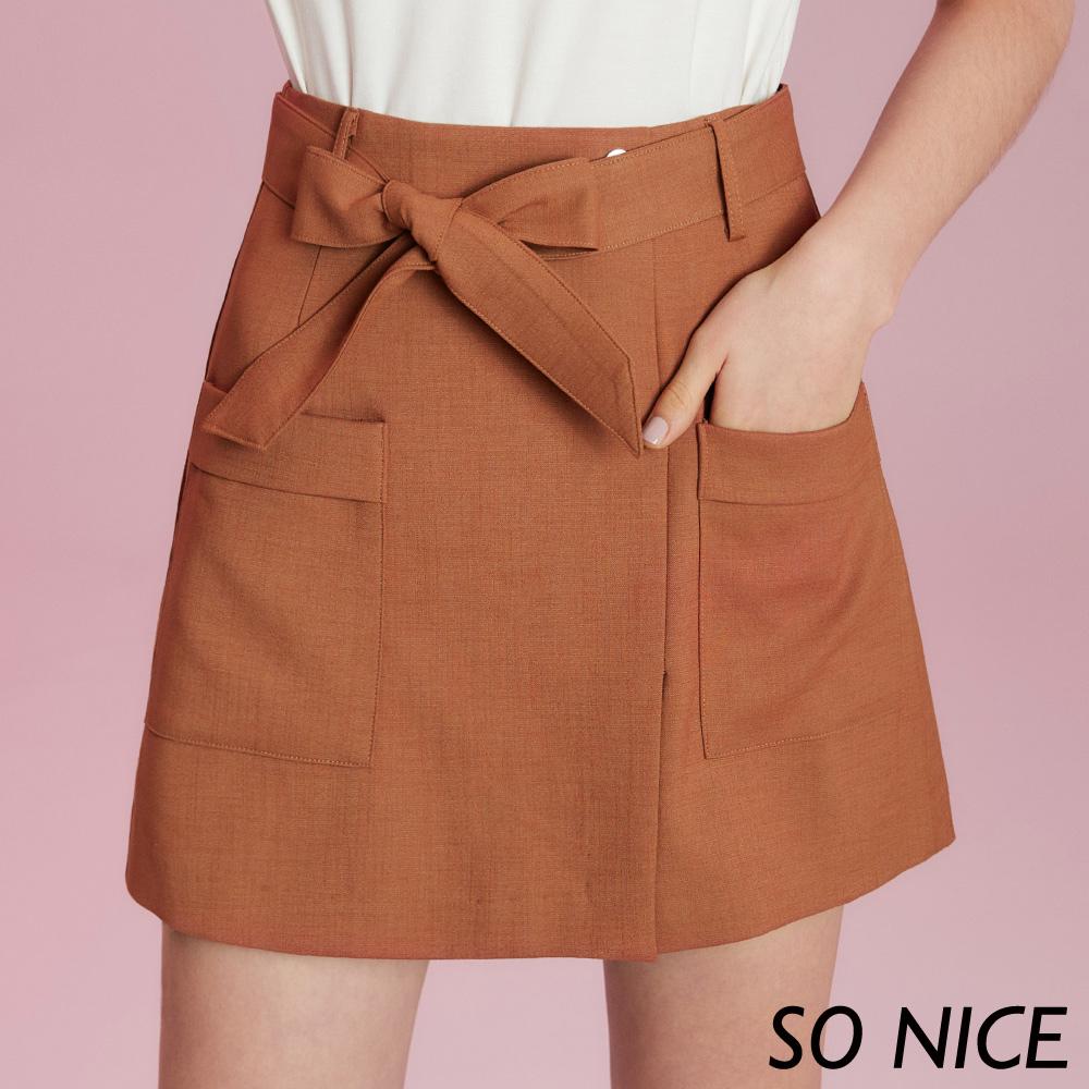 SO NICE氣質綁結造型短裙