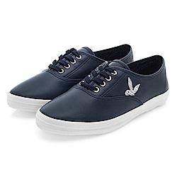 PLAYBOY潮流最IN 極簡仿皮綁帶休閒鞋-藍