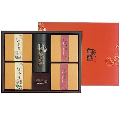 【金彩堂】牛蒡禮盒旗艦版(牛蒡黑豆*2 牛蒡茶*2 柚子蔘*1)