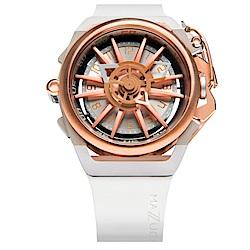 MAZZUCATO RIM高工藝義式美學翻轉機械石英腕錶/11-WHCG5