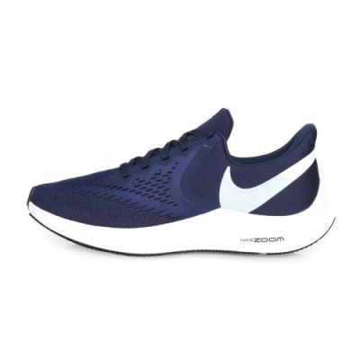 NIKE ZOOM WINFLO 6 男慢跑鞋-路跑 深藍白