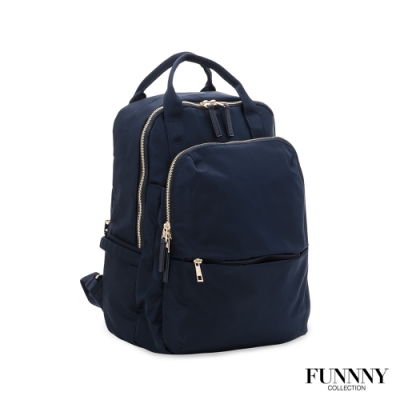 FUNNNY 大容量實用尼龍機能後背包 Alva 藍