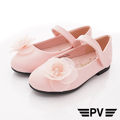 PV日系私藏 蕾絲花漾公主鞋款 8653粉紅(中小童段)