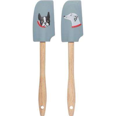 《NOW》迷你木柄矽膠刮刀(藍2件)