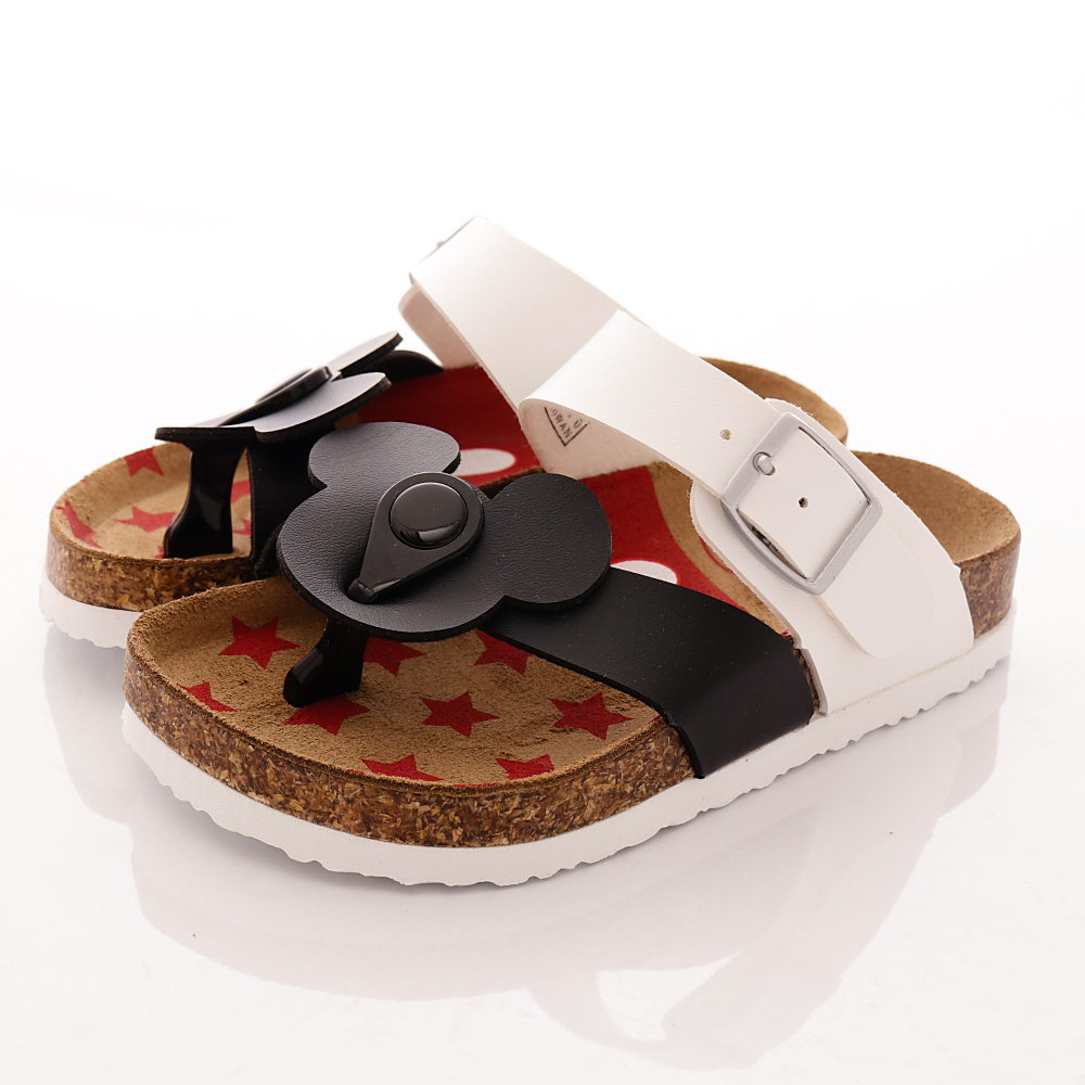迪士尼童鞋-米奇夾腳涼鞋款-454770黑白(中小童段)T2
