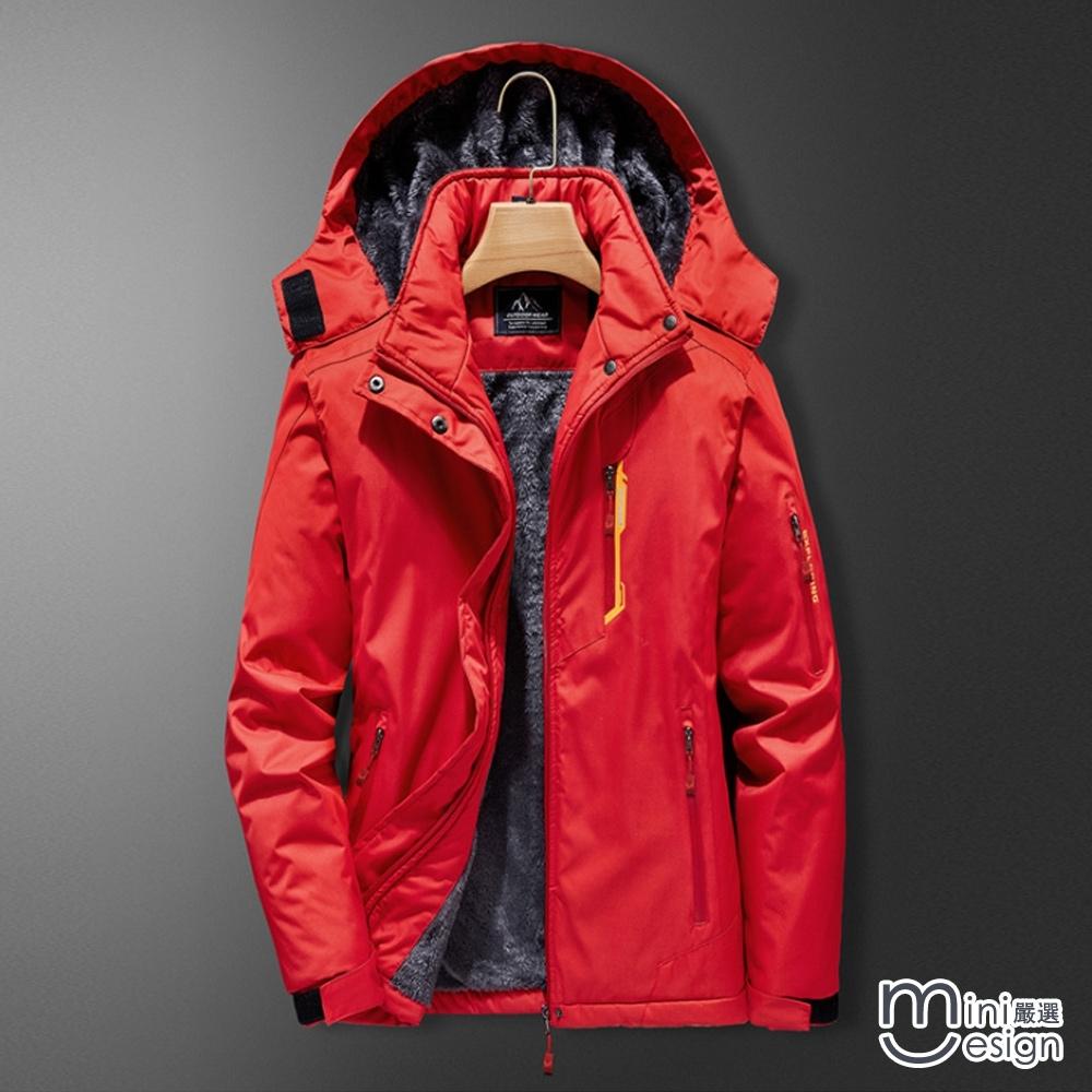 女款戶外滑雪登山保暖防風衝鋒衣三色-mini嚴選
