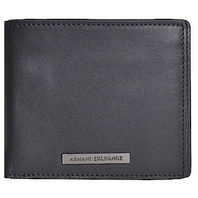 ARMANI EXCHANGE 經典LOGO字母品牌圖騰證照卡片/短夾(黑)
