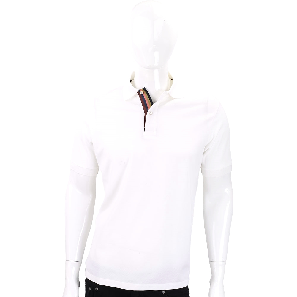 Paul Smith 白色純棉珠地棉質POLO衫(男款)