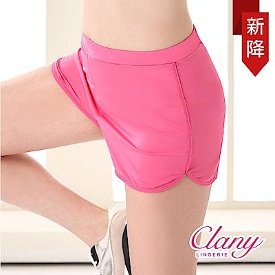 運動短褲 防走光時尚顯瘦L-XL運動短褲 芭比粉 可蘭霓Clany