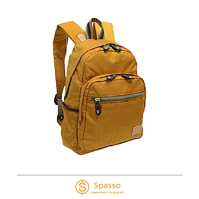 SPASSO 日本同步款 超輕量休閒後背包  芥末黃色