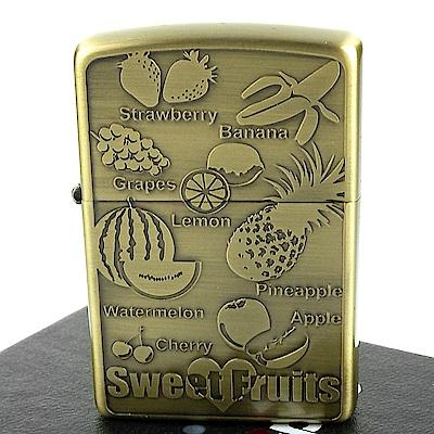 ZIPPO 日系~Sweet Fruits-香甜水果圖案蝕刻加工打火機