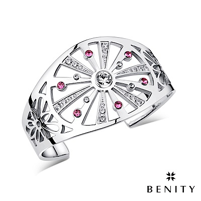 BENITY 星河 醫療級抗敏 八心八箭cz美鑽 派對華麗款 白鋼 女手環